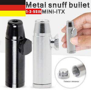 1/5 Stk Schnupf-Flasche Schnupf- Tabak-Dosierer-Spender Schwarz Silber