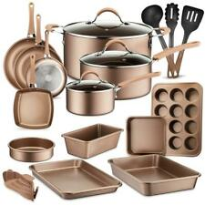 nutrichef NCCW20S High qualified Basic Kitchen Cookware Set, Non-Stick 20-Piece
