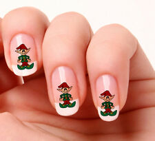 20 stickers pour ongles, Elf de noël