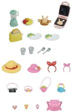 2 Sylvanian Families Sets - Breakfast and Outing Accessory Sets Sold Together