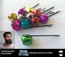 10 Christmas Beard Bells & gift bag UK DE BLADES baubles party kit secret santa