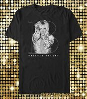 New Britney Spears Black Mens Classic Vintage Concert T-shirt