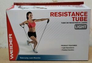 NEW! WEIDER LIGHT RESISTANCE TUBE TONE LONG, LEAN MUSCLES WFRT111 FREE SHIPPING!