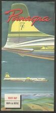Brochure Decade Of 50 Panagra DC7 Airlines Map Of Route 8 x 36