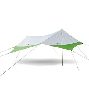 Large Camping Tent Awning Sun Shelter With Pole Beach Outdoor 5 Person Tent