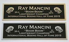 Ray Mancini nameplate for signed boxing gloves trunks photo