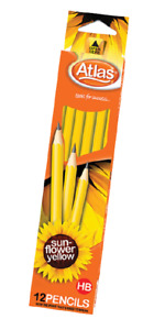 Pencil 12 Box HB Sun Flower Yellow from Sri Lanka FREE SHIPPING
