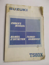 Suzuki Fahrerhandbuch TS80X