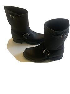 WOMENS FRYE ENGINEER  BOOTS, BLACK SIZE 7 M