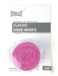 """Everlast Women's Pink Boxing Classic Hand Wraps 108"""" Engineered For Boxing/MMA"""