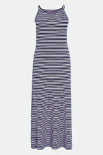 Next Nautical Strappy Stripe Print Summer Beach Holiday Maxi Dress UK 18
