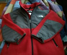 THE NORTH FACE RED & GRAY FLEECE JACKET Boy's M CLASSIC DESIGN