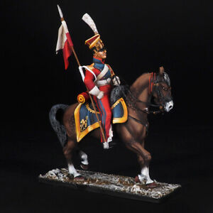 Tin soldier, Private Dutch Red Lancers, Napoleonic Wars, 54 mm