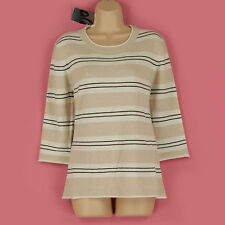 Women's Striped Crew Neck None Cashmere Jumpers & Cardigans