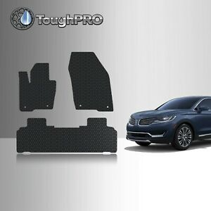 ToughPRO Floor Mats Black For Lincoln MKX All Weather Custom Fit 2016-2018