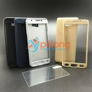SAMSUNG GALAXY J7 PRIME G610 360 FULL COVER CASE -- FREE TEMPERED GLASS