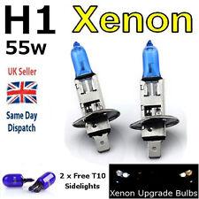 H1 55w SUPER WHITE XENON (448) HIGH BEAM UPGRADE Head Light Bulbs Road Legal U
