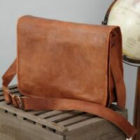 Men's Genuine Leather Shoulder Messenger Bag Retro Vintage Satchel Briefcase NEW