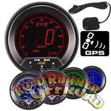 AUTOGAUGE EVO 85MM DIGITAL SPEEDOMETER GAUGE BLUE RED GREEN WHITE INC GPS SENSOR