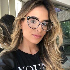 Women Cat Eye Glasses Frames Plastic Titanium Rivet Styles Optical Fashion 1pc