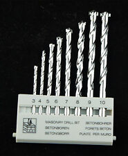 "8Pcs 1/8"" to 3/8"" Set -M -9 Carbide Masonry Drill Bit Tip, Concrete, Brick Tile"
