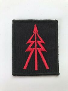 RED ON BLACK RECCE TREE BADGE RECONNAISSANCE PLATOON TROOP TRF