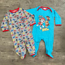 2 Pack Paw Patrol Baby Boy Sleepsuit All In One Babygrow Age 0 - 6 Months