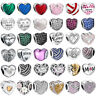 925 sterling Love heart silver charms bead For European charms bracelet chain