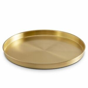 Brushed Gold Party Drinks Serving Tray Cafe Bar Food Presentation Tray 33cm Gift