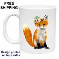 Baby Fox, Cute, Birthday, Christmas Gift, White Mug 11 oz, Coffee/Tea