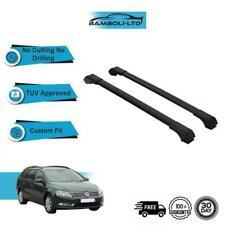 Fits VW PASSAT B7 2012-2015 SW-SALOON  Roof Rack Cross Bars  Rails Alu BLACK SET