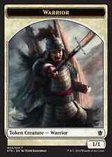 10X 1/1 White Warrior TOKEN (4/13)NM Khans of Tarkir MTG Magic Token Mardu Charm