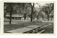 RPPC Island View Park CEDAR FALLS IA Iowa 1954 Real Photo Postcard