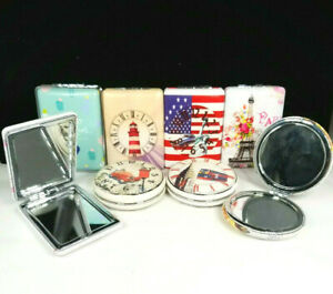 *New* Various Art, Soft Leather Cover, Makeup Compact Pocket Mirror