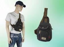 Herren Tasche Umhängetasche Brusttasche Brusttasche Schulter Grau 19 * 25 * 5 cm