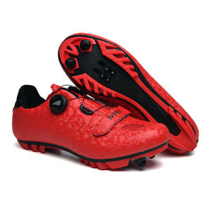 Professional Spin Cleats Cycling Shoes Mountain Bike Sneakers Men Peloton Red