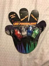 4x Novelty LED Finger Light Party Concert Favors Flash Rings Beams Torch Kids