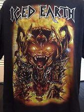 Rare Iced Earth Tour Shirt Sz XL Death Slayer Venom Metal Cradle Priest Angel