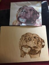 Pet Portraits Pyrography Woodburning framed Commissions Christmas birthday gift