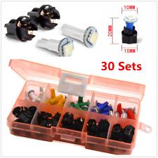 30 Sets 12V Car Dash Light T5 Instrument Panel Cluster Plug Mixed LED Light Kit