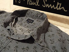 """PAUL SMITH Mens Shirt 🌍 Size M (CHEST 40"""") 🌎 RRP £95+ 🌏 FUNKY FLORAL PRINT"""