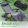 Camping Picnic Outdoor Beach Garden Portable Folding Chair Side Tray For Drink