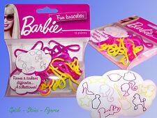 Barbie Fun Bracelets, 12x Silikon Armband, Gummiband, Mitgebsel Kindergeburtstag