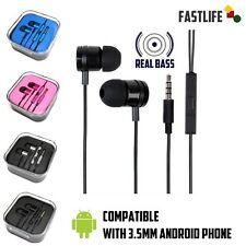 Real Xtra Bass 3.5mm In-Ear Earphones Stereo Headphones for Samsung, LG, Android