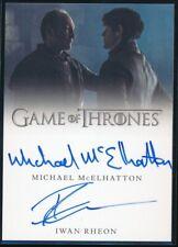 Game of Thrones Valyrian Steel Dual Autographs Michael McElhatton/Iwan Rheon