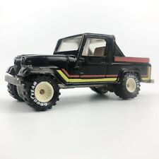 1982 Hot Wheels Real Riders Jeep Scrambler Black White Hubs