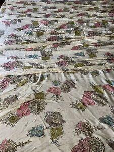 4 Vintage Drapes Curtain Panels Pinch Pleat MCM Atomic mid century modern Sheer