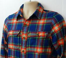 Mens Abercrombie & Fitch Muscle Fit Long Sleeve Plaid Colorful Shirt Size S