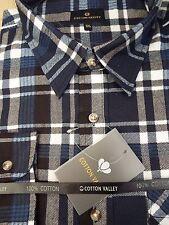 Camicie casual e maglie da uomo nere in misto cotone con colletto