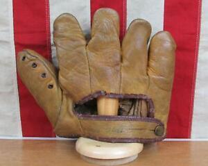 Vintage 1940s Dubow Leather Split Finger Baseball Glove Stanley Hack Model Lefty